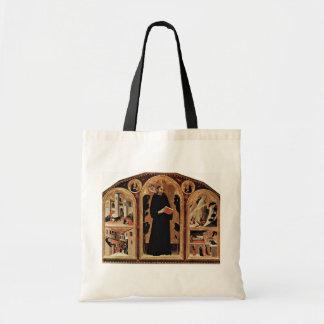 Tríptico del St Augustine bendecido Novellus Bolsa Lienzo