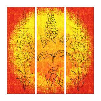 Tríptico del verano indio (lona envuelta galería) impresiones de lienzo