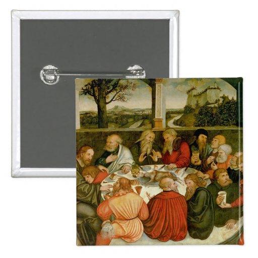 Tríptico, el panel izquierdo, Philipp Melanchthon Pin Cuadrada 5 Cm
