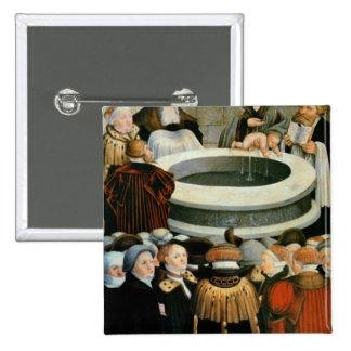 Tríptico, el panel izquierdo, Philipp Melanchthon Pin