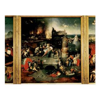 Tríptico: La tentación de St Anthony Tarjetas Postales
