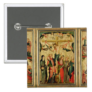 Tríptico que representa la crucifixión de Cristo Pin