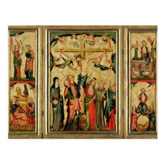Tríptico que representa la crucifixión de Cristo Tarjetas Postales