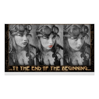 Triptych 1 Red Lips Poster