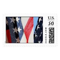 Triptych: American Flag Postage