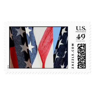 Triptych: American Flag Stamp