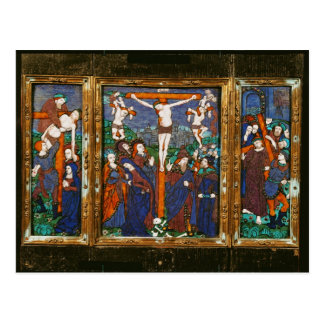 Triptych depicting the Crucifixion, Limousin Post Cards