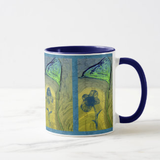 Triptych Floating Hearts and Flowers Mug