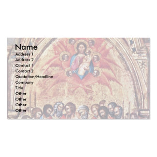 Triptych From The Cappella Delle Carceri Business Card Template