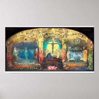 Triptych Grail by Anna May  -  Rudolf Steiner Poster