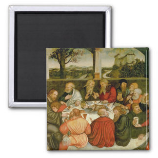 Triptych, left panel, Philipp Melanchthon 2 Inch Square Magnet
