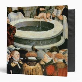 Triptych, left panel, Philipp Melanchthon 3 Ring Binder