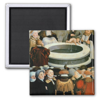Triptych, left panel, Philipp Melanchthon Fridge Magnet