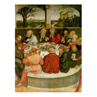 Triptych, left panel, Philipp Melanchthon Postcard