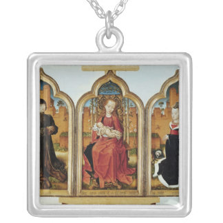 Triptych of Jean de Witte, 1473 Silver Plated Necklace