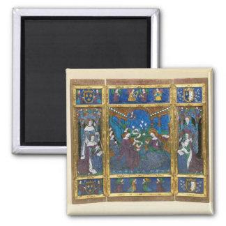 Triptych of Louis XII  and Anne de Bretagne Magnet