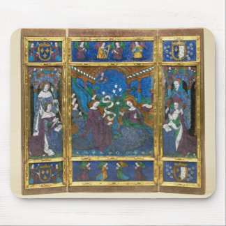 Triptych of Louis XII  and Anne de Bretagne Mouse Pad