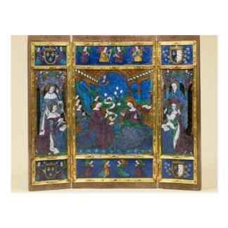 Triptych of Louis XII  and Anne de Bretagne Postcard