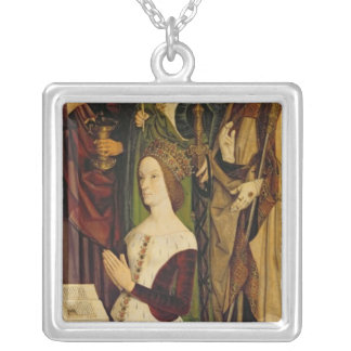 Triptych of Moses and the Burning Bush Pendant
