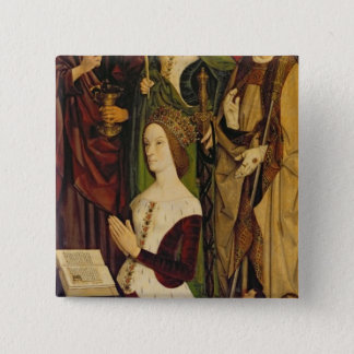 Triptych of Moses and the Burning Bush Pinback Button
