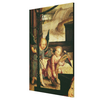 Triptych of the Adoration of the Child Canvas Print