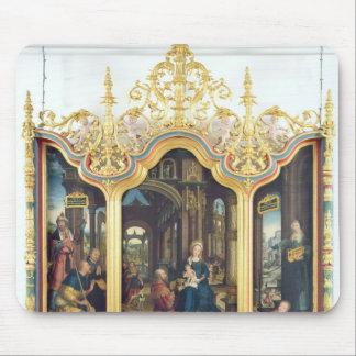 Triptych of the Adoration of the Infant Christ Mouse Pad