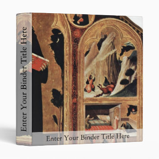 Triptych Of The Blessed St. Augustine Novellus 3 Ring Binder