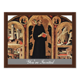 Triptych Of The Blessed St. Augustine Novellus Custom Invites