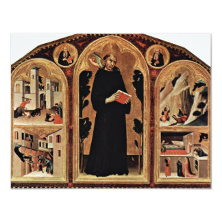 Triptych Of The Blessed St. Augustine Novellus Personalized Invites