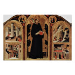 Triptych Of The Blessed St. Augustine Novellus Poster