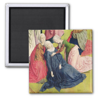Triptych of the Crucifixion 2 Inch Square Magnet