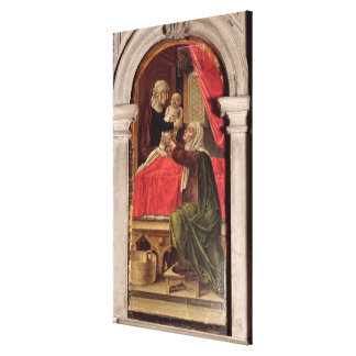 Triptych of the Madonna of the Misericordia, 1473 Canvas Print