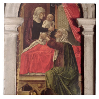 Triptych of the Madonna of the Misericordia, 1473 Ceramic Tile