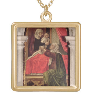 Triptych of the Madonna of the Misericordia, 1473 Gold Plated Necklace