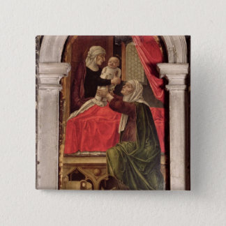 Triptych of the Madonna of the Misericordia, 1473 Pinback Button