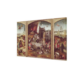 Triptych of the Temptation of St. Anthony Canvas Prints
