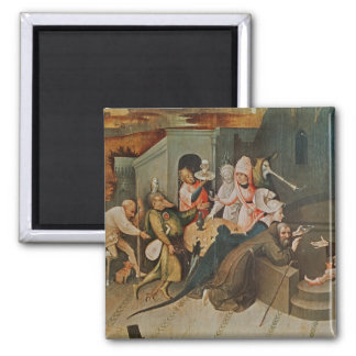 Triptych of the Temptation of St. Anthony Refrigerator Magnet