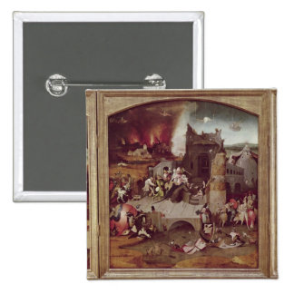Triptych of the Temptation of St. Anthony Pinback Button