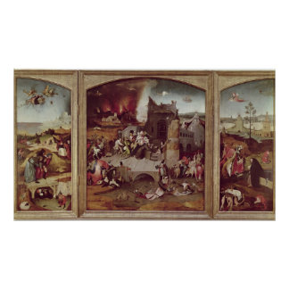 Triptych of the Temptation of St. Anthony Poster