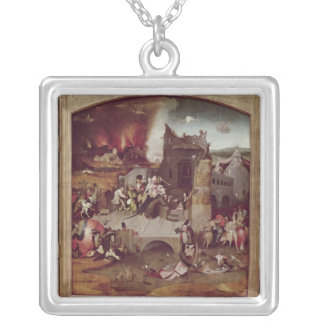 Triptych of the Temptation of St. Anthony Silver Plated Necklace