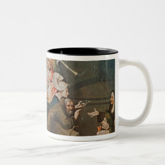Triptych of the Temptation of St. Anthony Two-Tone Coffee Mug