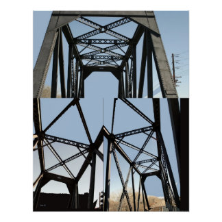 Triptych: Railroad Bridge Poster