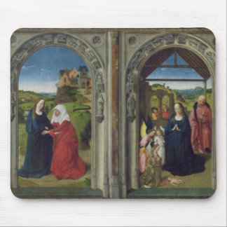 Triptych showing the Annunciation Mouse Pad