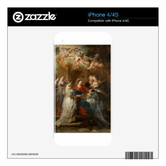 Triptych St. Idelfonso - Peter Paul Rubens Decal For iPhone 4