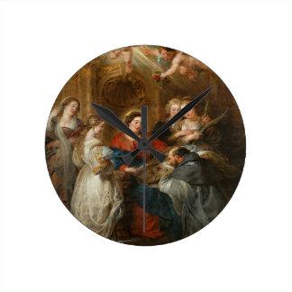 Triptych St. Idelfonso - Peter Paul Rubens Round Clock