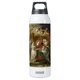 Triptych  Sv . Idelfonso Peter Paul Rubens oil Insulated Water Bottle