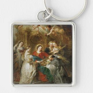 Triptych  Sv . Idelfonso Peter Paul Rubens oil Keychain