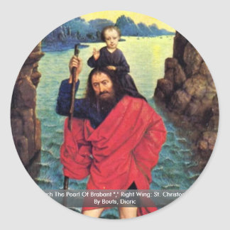 Triptych The Pearl Of Brabant Round Sticker