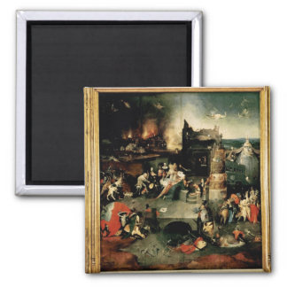 Triptych: The Temptation of St. Anthony 2 Inch Square Magnet
