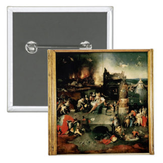 Triptych: The Temptation of St. Anthony 2 Inch Square Button